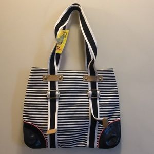 Roxy Bags - Roxy black and white striped bag